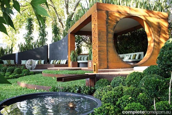 A sculptural outdoor room.