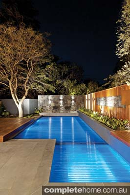 Swimming pool cover.