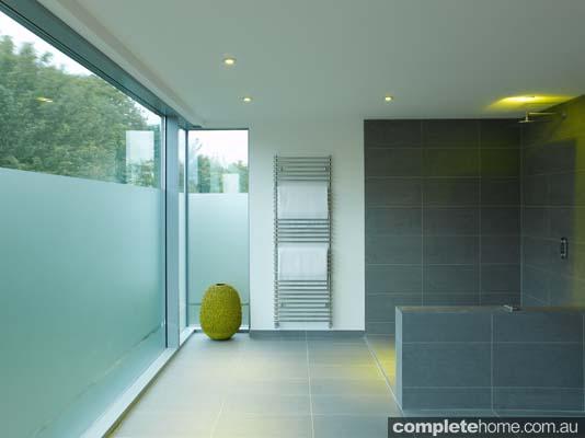 The open plan Brighton bathroom as featured in Grand Designs Australia.