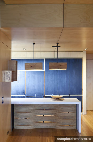 Recycled timber, a modern kitchen trend.