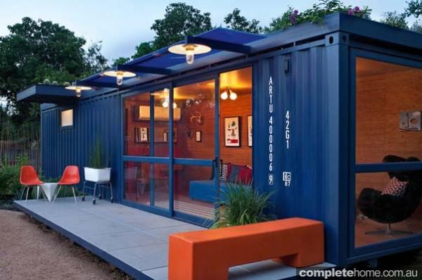 A container guest house is a unique home idea.