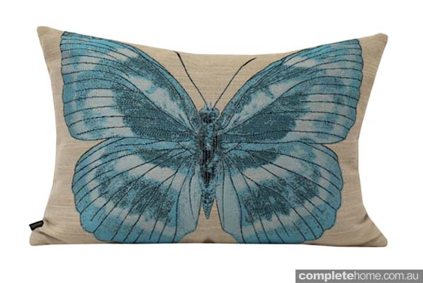 Spring Style: butterfly cushion