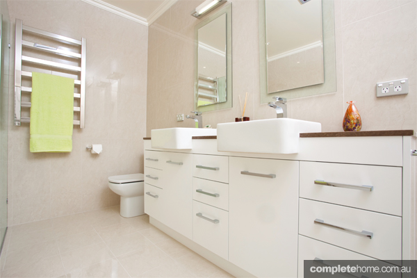 A contemporary and inviting bathroom from All Bathroom Gear.