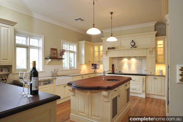 This heritage style kitchen boasts a number of exquisite features.