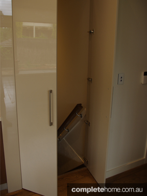 Hidden storage in a kitchen from Fresh Kitchen Solutions.