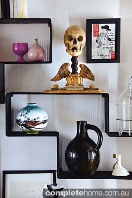 A crazy skull sculpture found in an eccentric apartment in Paris.