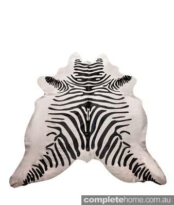 African zebra rug