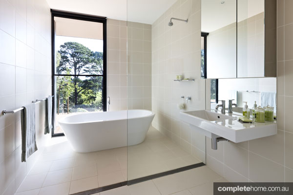 Trend alert bathrooms with a view completehome for Australian small bathroom design
