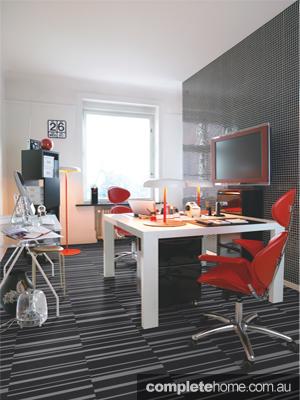 Modern laminate flooring.