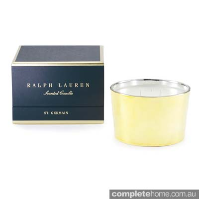 American rustic style: Ralph Lauren candle.
