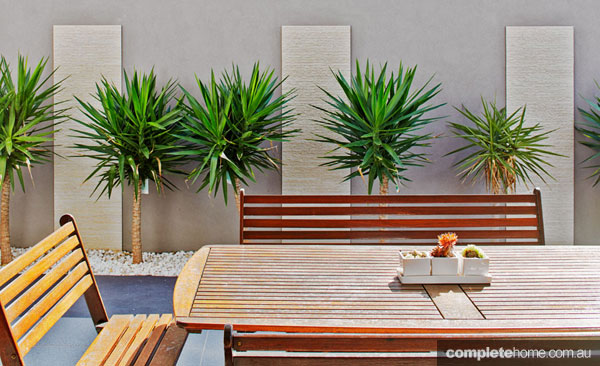 Alfresco living area in a duplex from M.A.G Constructions