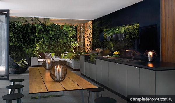 A contemporary outdoor room from Laminex Alfresco