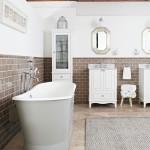 Old-world bathroom with a modern edge