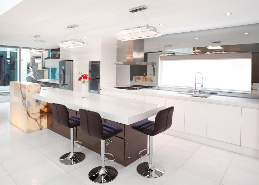 Magnificent modern kitchen with an open plan design for Magnificent kitchens