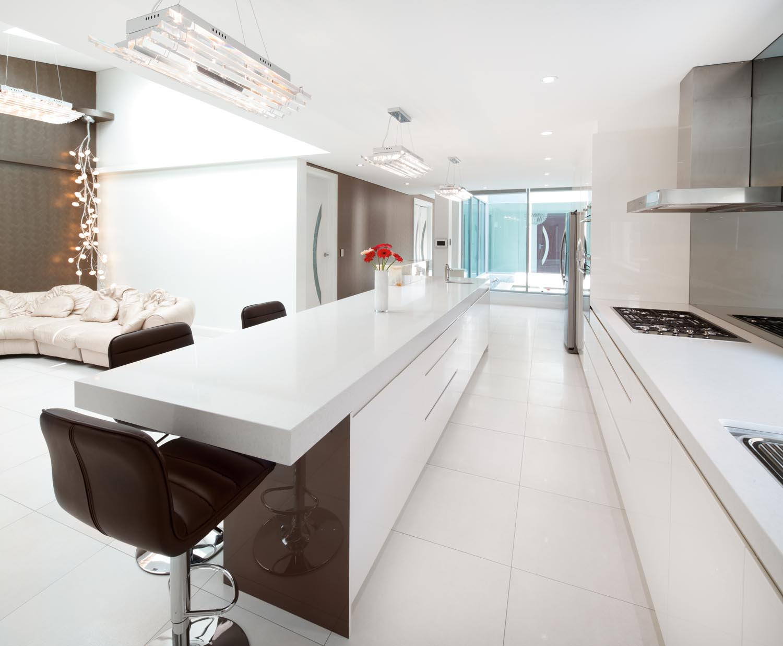 Magnificent modern kitchen with an open plan design for Modern open kitchen