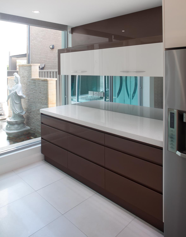 Modern kitchen with an open-plan design