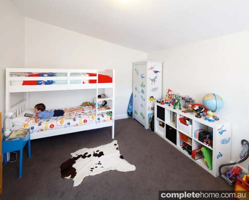 Modular home renovation - kids bedroom.