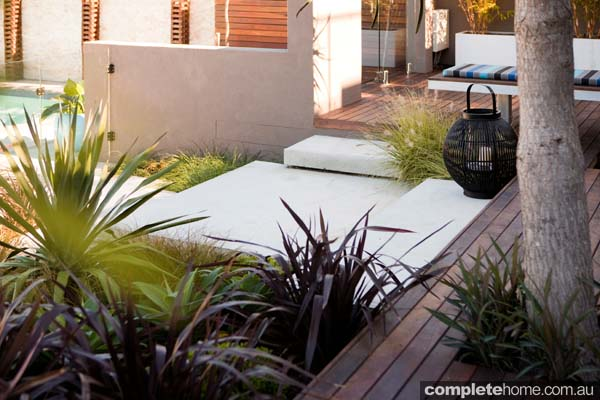 A contemporary outdoor garden design from Landart Landscapes.