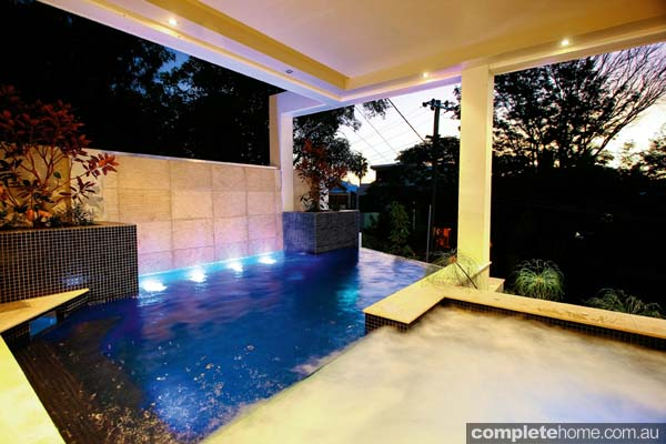A unique pool and spa from Majestic Pools and Landscapes.