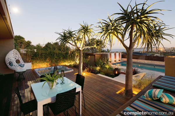 A casual and contemporary outdoor area from Landart Landscapes.