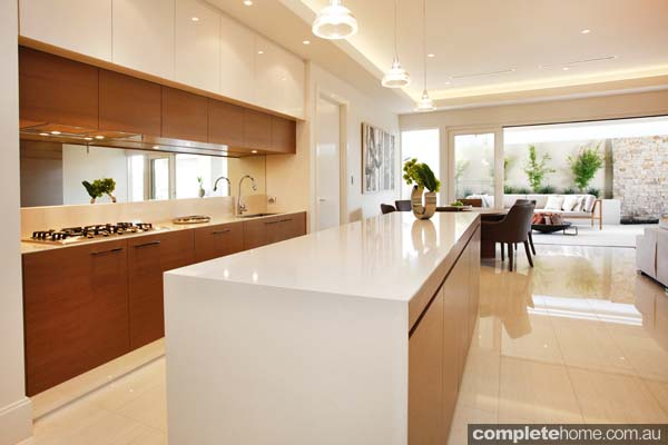 A luxurious display home design inspired by 39 organic for Display home kitchens