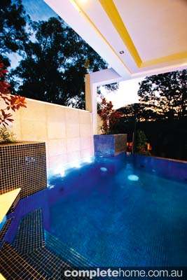 A unique indoor pool from Majestic Pools and Landscapes.
