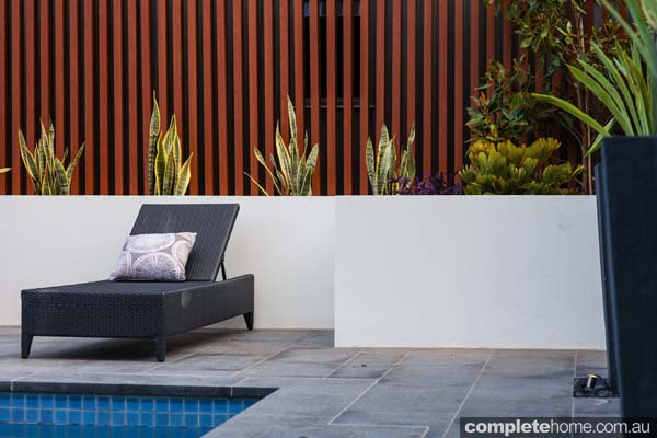 A seamless pool and garden design from Landscape Techniques.
