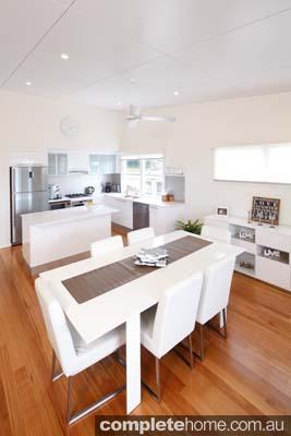 Modern modular home - living area.