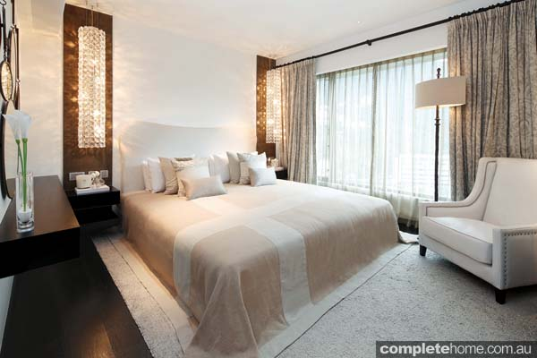 Bedroom Design Interior with minimalist and textured tones