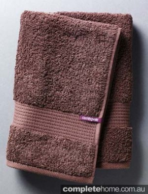Canningvale Excellence Chocolate coloured bath and spa towel