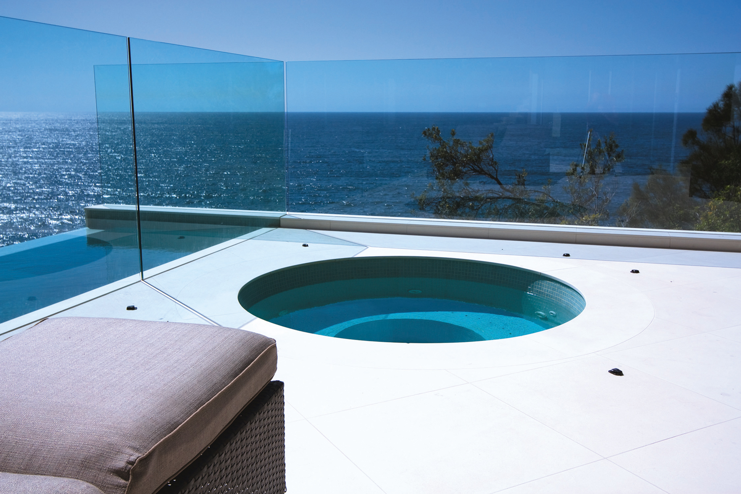 saltwater pool surround with deep-penetrating sealer
