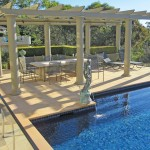 A pool and landscape design with classic grandeur