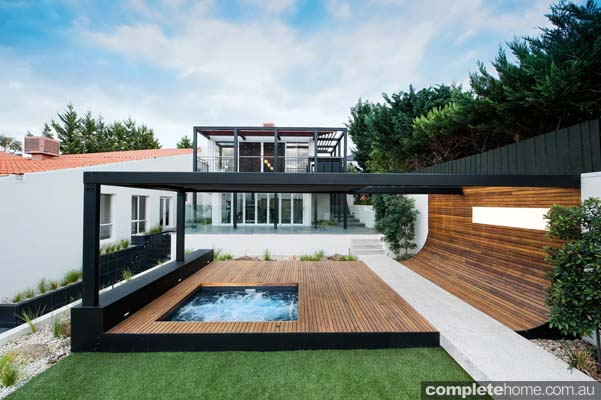 Modern Design Outdoor landscape Decking and Spa