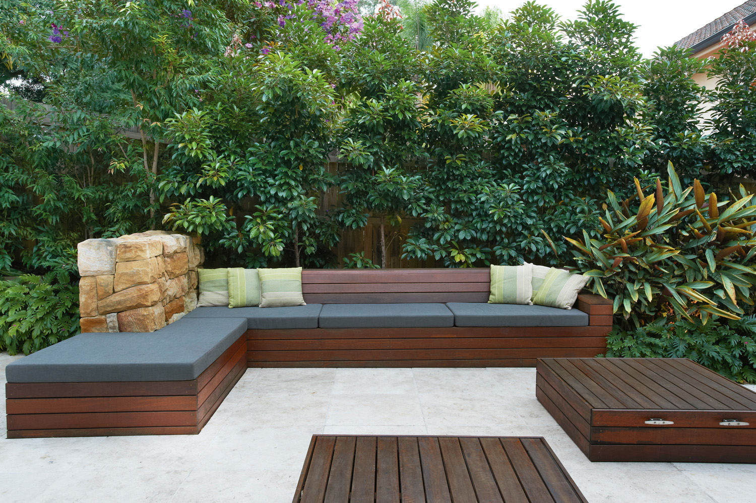 Modern, family-oriented outdoor area