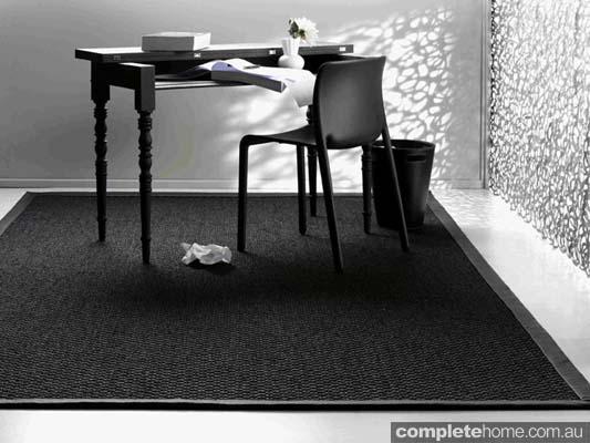 Black Onyx woven sisal rug