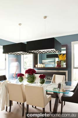 Dining room modern black features