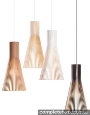 Recycled Plywood hanging light pendant