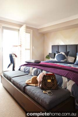 contemporary style bedroom mixed furnishings