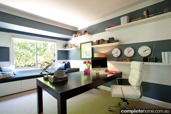 contemporary natural light home office