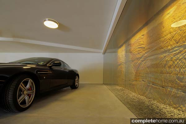 garage feature wall