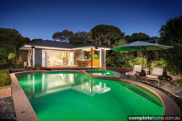 hampton style garden retreat