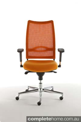 flash contemporary orange office chair