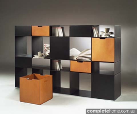 infinity contemporary shelving system