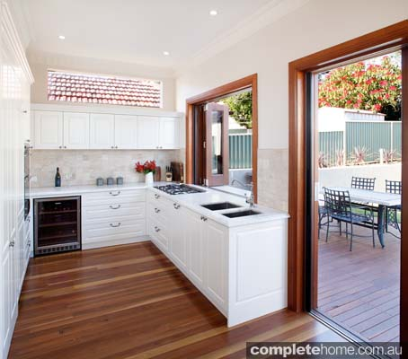 Contemporary kitchen design embraces the indoors and outdoors