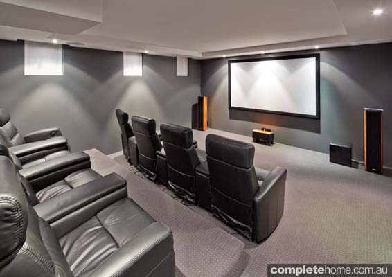 interior family entertainment home movie theatre