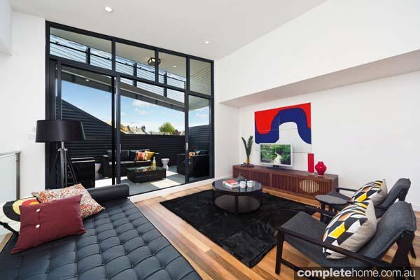hardwood flooring chic lounge interior