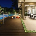 A designer outdoor entertaining area built to party