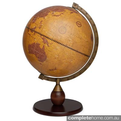 home office desk globe