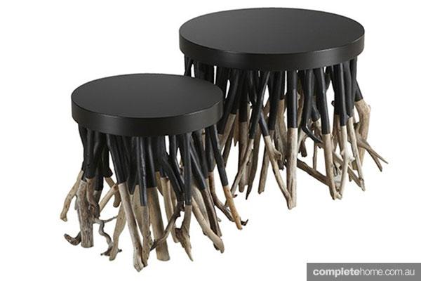 log decor stool chair eco friendly unusual interior furniture
