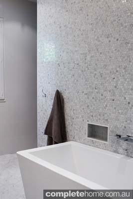 contemporary bathroom design marble tiles